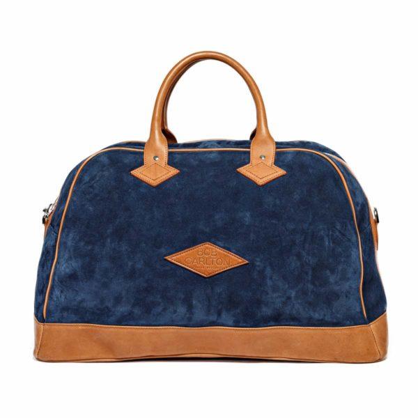 Travel bag Monaco Velours Bleu Marine Vue De Face