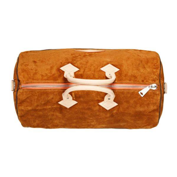 Suede travel bag