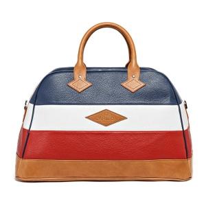 Travel bag Monaco Bleu Marine Blanc Rouge Vue De Face