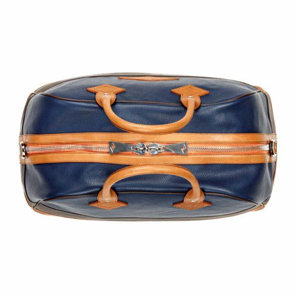 Travel bag Monaco Bleu Marine Et Chocolat